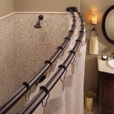 bennington adjule double curved shower curtain rod oil rubbed bronze