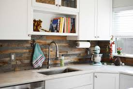 Pallet Wood Backsplash Reclaimed Wood Backsplash Wb Designs