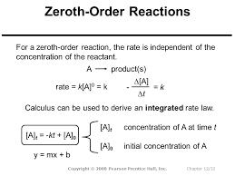 32 zeroth order reactions