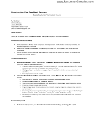 Perfect Construction Resume Examples Resume Sample For Construction