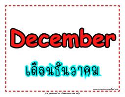 เดือนภาษาอังกฤษทั้ง 12 เดือน พร้อมคำอ่าน คำแปล