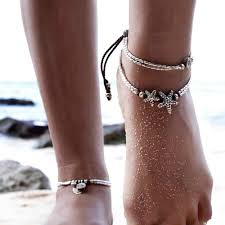 Beach <b>Jewelry Beads</b> Star Elephant Anklet For Women <b>Boho</b> Ankle ...
