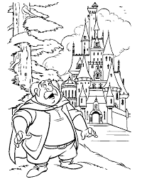 Beauty And The Beast Coloring Page Beautybeast Castle All Kids