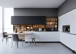 modern black white. Black And White Kitchen Cabinet Modern N