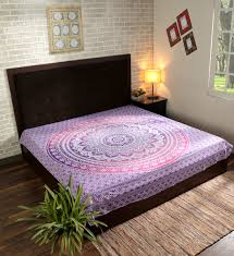 pink blue ombre mandala tapestry indian hippie bedding cotton bedspread twin queen wall hanging curtains