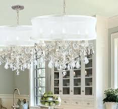 crystal drum shade chandelier