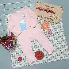 MaiHương Baby - Chuyên đồ cho mẹ và bé sơ sinh - Body Bu cài lệch kèm bao  tay chân Rất là tiện mẹ nhé, thiết kế có thể lật vạt ra