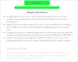 Summary For Resumes Llun Beauteous Qualification Summary Resume