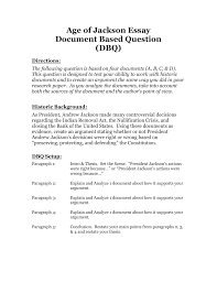 age of jackson essay document based question dbq directions