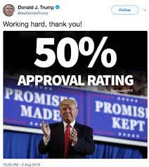 Image result for  SOMEONE TELL OBAMA: Trump's Approval Rating 6 POINTS HIGHER than Obama at Same Point in Presidency
