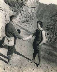 Mr. Wiley Oakley and Miss Josephine Ogle, guides, meet at Alum ...