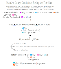 Pediatric Dosage Calculations Finding The Flow Rate