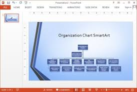 Organization Chart Template Powerpoint Free Widescreen Organizational Chart Smartart Powerpoint Template