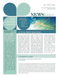 Newsletters Templates Mission Update Newsletter Template Template Newsletter
