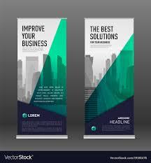 Business Banner Design Construction Roll Up Banner Design Template Vector Image