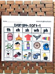 Printable phonics worksheet on h digraphs ending with ch th sh ck. English Safari Free Digraph Ch Sh Th Wh Ph Facebook