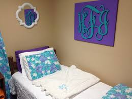Dorm Bedding Decor Monogram Mania Avad Fan