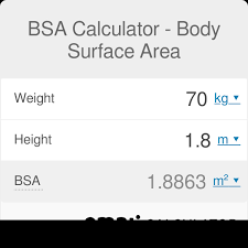 Ideal Weight Chart In Kg And Cm Bsa Calculator Body Surface Area Omni