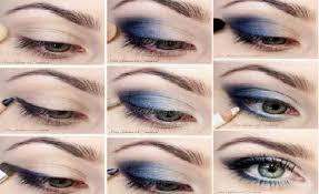 smokey eye look for blue eyes
