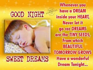 good night sms hindi 140 character
