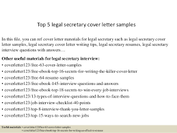 Top 5 legal secretary cover letter samples In this file, you can ref cover  letter ...