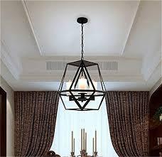 industrial pendant lighting fixtures. Simple Fixtures Ladiqi Industrial Pendant Light Vintage Wrought Iron Cage Chandelier Lights  Fixture By In Lighting Fixtures