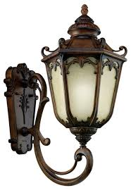 kichler brownstone and umber etched seedy glass exterior wall light victorian outdoor wall lights and sconces by lighting lighting lighting