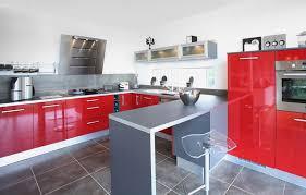 Mignon Cuisine Rouge Et Gris Salon Deco Noir Blanc Top With Decoration