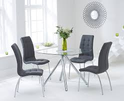 the elva 100cm glass dining table with calgary chairs at oak regarding and plans 2
