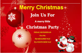 Christmas Invitation Card Ms Word Merry Christmas Party Invitation Cards Word