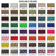 Paracord Planet Color Chart Nylon Whip Colors And Designs Available From Holyoak Whips