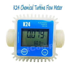 garden hose flow meter. New Blue Pro K24 Turbine Digital Diesel Fuel Flow Meter For Chemicals Water Garden Hose