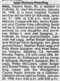 Pauline Bean Hall Obituary - Newspapers.com