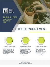 Create Event Flyer Small Business Flyer Green Design