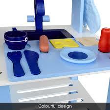 keezi wooden kitchen pretend play set toy kids