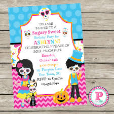 invitation for a party the book of life birthday party invitations the dead