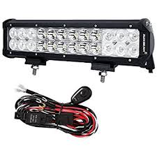 amazon com auxbeam wiring harness kit for led light bar with fuse Cree Led Light Bar Wiring Diagram auxbeam 12 inch led light bar 72w 7200lm light bar combo beams 24pcs 3w cree chips waterproof with wiring harness wiring diagram for cree led light bar