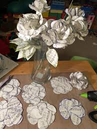 Paper Flower Bouquet Etsy Sheet Music Roses 12 Paper Roses Paper Flower Bouquet