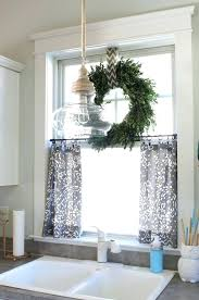 blue kitchen curtains captivating country blue kitchen curtains of patterned fabric checd alongside