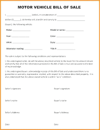 Bill Of Sale Template Vehicle Bill Of Sale Template Word