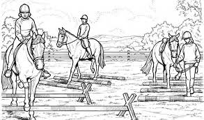 Small Picture Horse Jumping Coloring Pages Backgrounds Coloring Horse Jumping