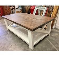 rustic coffee table set shelf