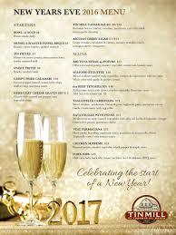 New Year Menu New Years Eve At Tin Mill Tin Mill Restaurant