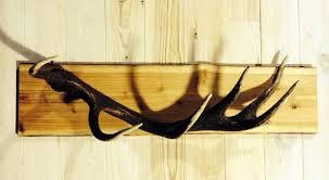 Antler Coat Rack Delectable Coat Rack Deer Antlers Coat Rack Made Of Rough Plank And Capital