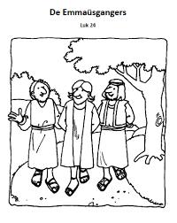 De Emmausgangers Bijbelse Werkjes Bijbel Kleurplaten Bijbel En