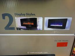 muskoka curved wall mount electric fireplace costco 7