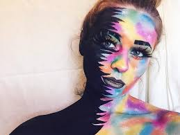 black and color makeup