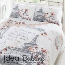 large eiffel tower parisian duvet quilt bedding cover and pillowcase bedding set duvet sets complete bedding sets bed sheets pillowcase