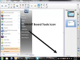 computer tools icon. load the smart board tools icon on a pc computer