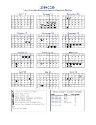 Lakes International Language Academy Calendars